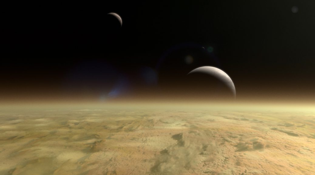 Skimming over Saturn